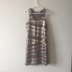 Sexy sequin metallic Body con mini dress